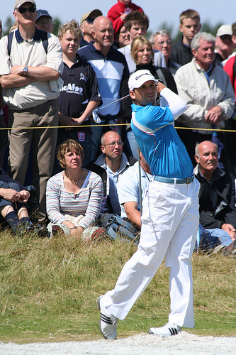 Photo of Sergio Garcia at 2008 Open Championship by Steven Newton.