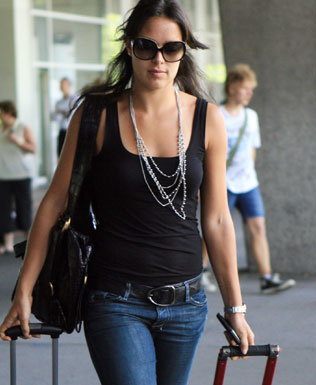 Photo of Ana Ivanovic arriving in Melbourne via Forty Deuce.