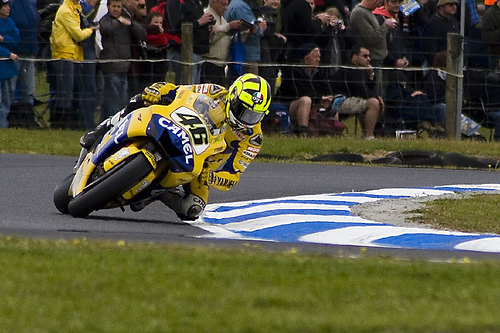 Photo of Valentino Rossi by Andrew Barron.