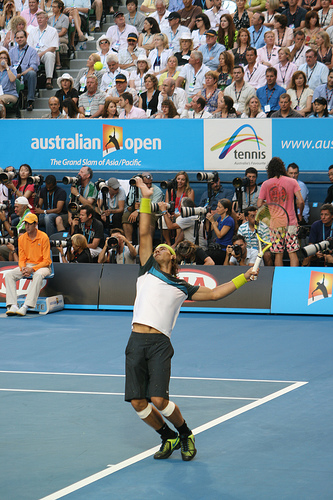 Photo of Rafael Nadal by Chris Taylor.
