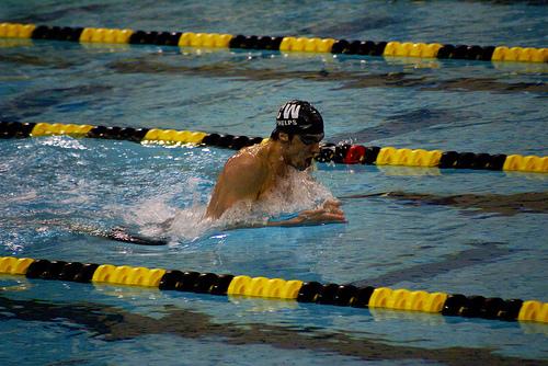 Photo of Michael Phelps by Karen Blaha.