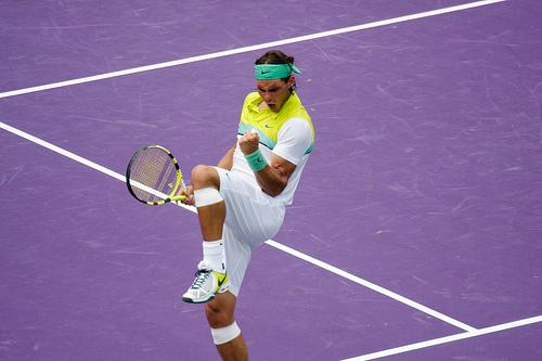 Rafael Nadal has had plenty of reasons to pump his fist this year. Photo by mirsasha.
