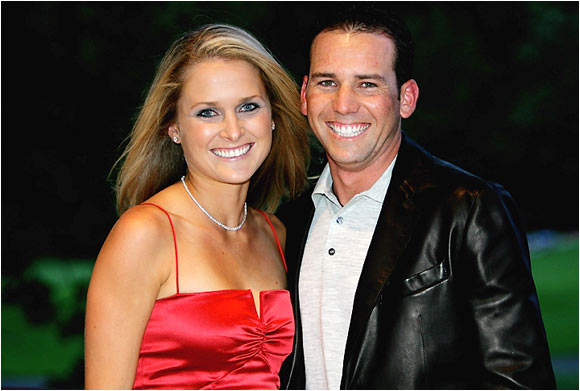 Photo of Sergio Garcia and Morgan-Leigh Norman via The One Eyed Golfer.